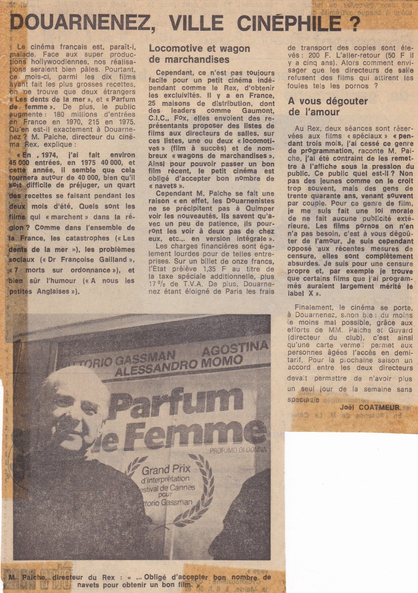 Article dans Ouest-France (avril 1976)