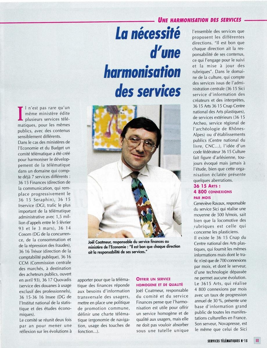 Interview dans la revue Solutions Télématiques de juillet 1993
