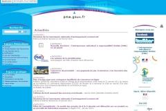 Le site pme.gouv.fr en février 2011