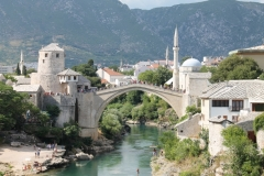 Le pont de Mostar en Bosnie-Herzégovine (juillet 2015)