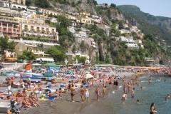 Plage de la côte amalfitaine avant confinement (août 2008)